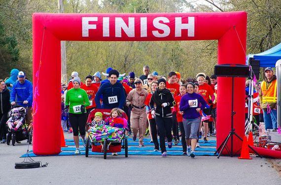 White Center 5k finish line