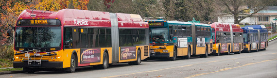 Metro buses laying over