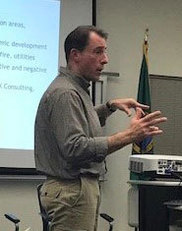 Brad Clark presenting in Skyway