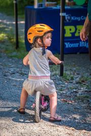 Child on bike.
