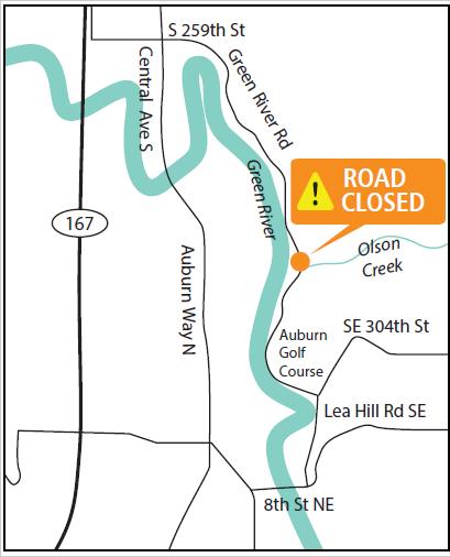 Green River Road closure map