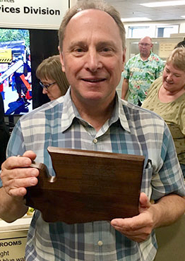 Rick Brater with award