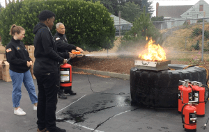 Fire safety demonstration (2018)