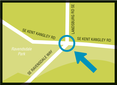 map showing intersection