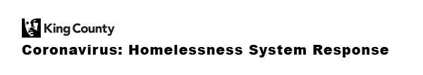 Coronavirus: Homelessness System Response