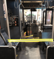 Safety strap on a Metro bus