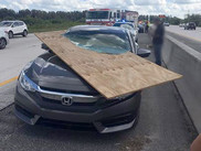 Unsecured load accident photo