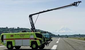 Fire truck 241 with Mt Rainier