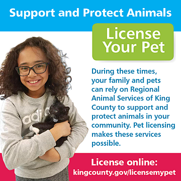 Support and protect animals - license your pet