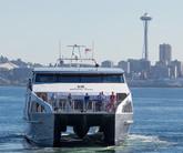 Water Taxi & Seattle Skyline