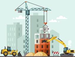 Building construction graphic
