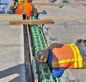 Men working on bridge