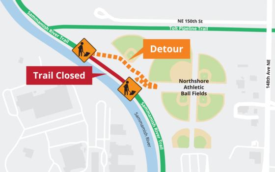 Derby Creek detour map