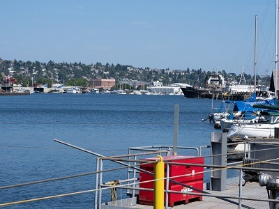 Lake skyline and boats