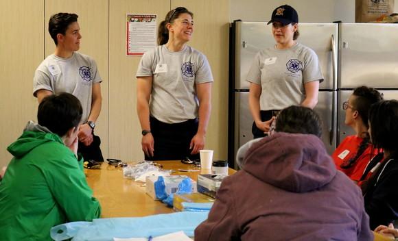Kirkland firefighters Keelin Pattillo and Megan Keyes