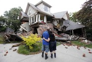 home destroyed by earthquake