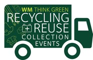Waste Management graphic for recycling and shredding event