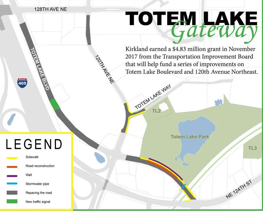 Totem lake gateway map