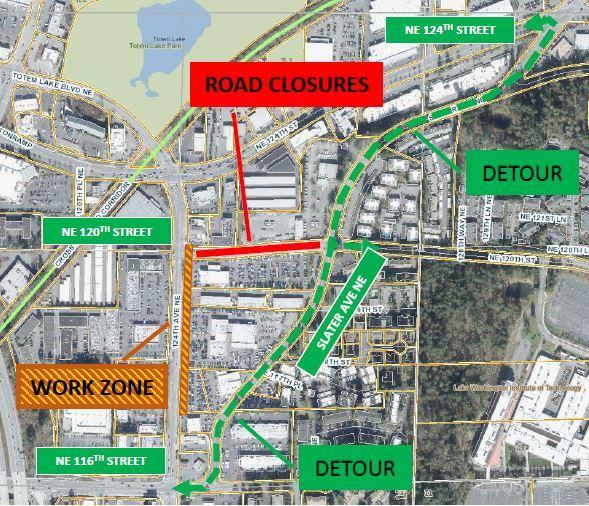 120th street closure map