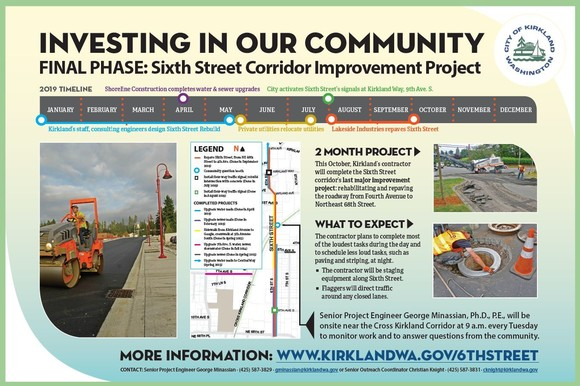 sixth street project sign