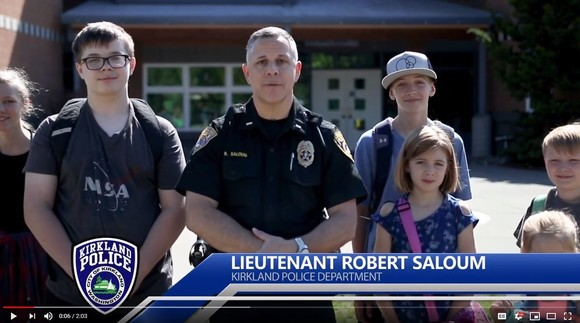 Slow down for kids movie with Lt. Rob Saloum and children