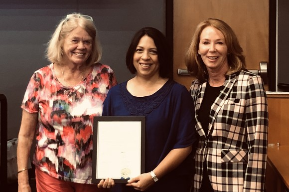 Mayor Penny Sweet, Debbie Lacy, and Councilmember Kelli Curtis