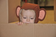 child in monkey costume