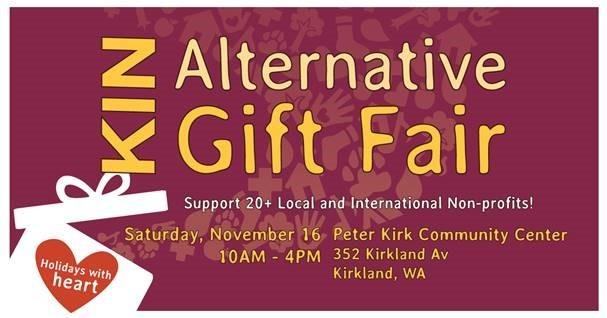 Kirkland Interfaith Network gift fair poster