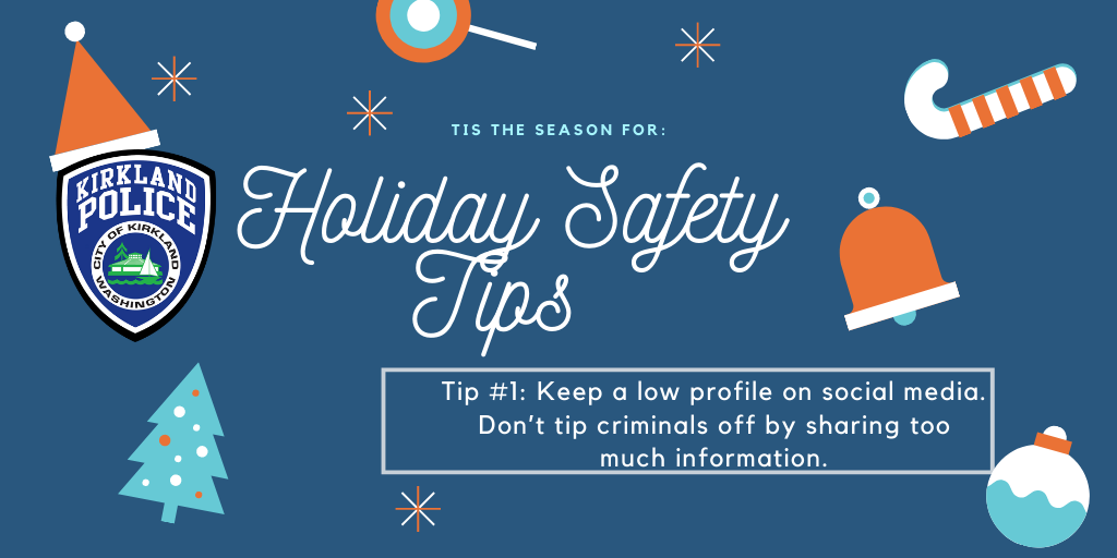 holiday safety tips from kpd