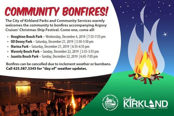 Community bonfires with argosy