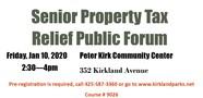 senior property tax forum