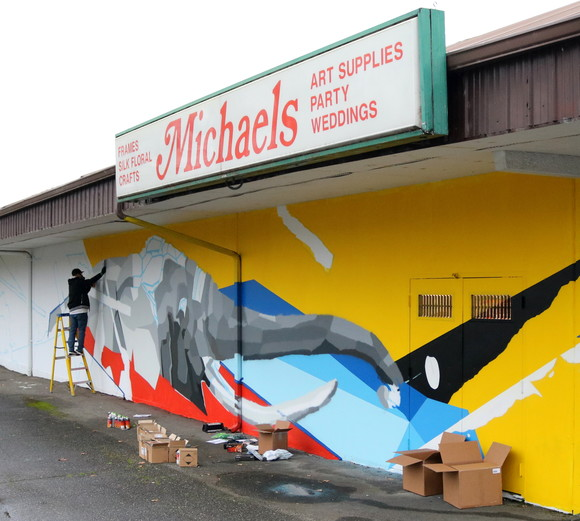 Peace Has Come mural with artist Nathaniel Art