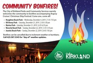 community bonfires with argosy ships