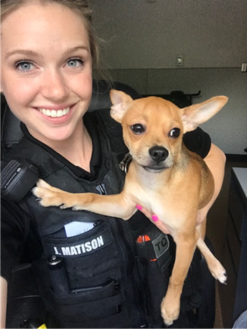 Officer Jennifer Matison with Dog