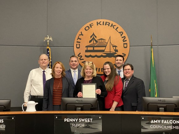 City Council with Black History Proclamation