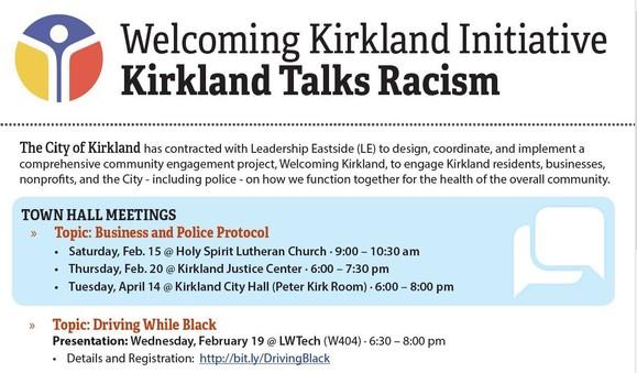 UPcoming Welcoming Kirkland Initiative Topics