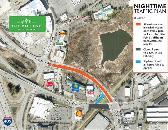 night time traffic plan
