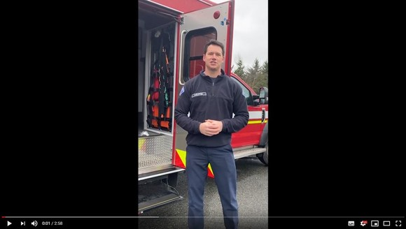Firefighter safety video from March 2 2020