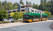 Image of a Metro bus at the South Kirkland Park and Ride