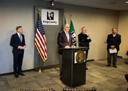 Photo of Gov. Jay Inslee press conference March 16