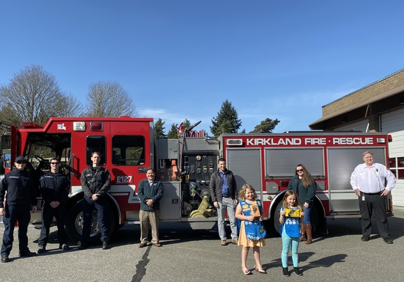 Station 27 Scouts Delivering Cookies