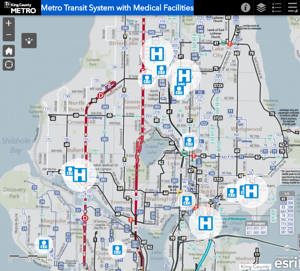 Metro medical need bus route map image