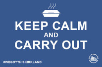 Keep calm take out horizontal