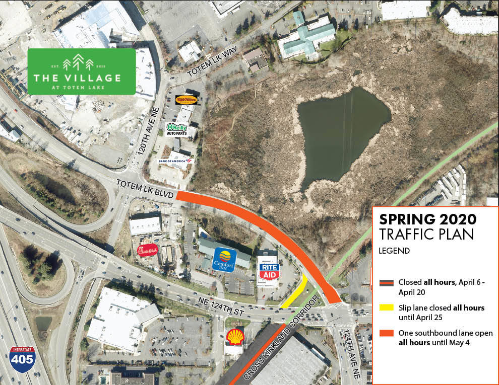 Totem Lake Traffic Map for April 16