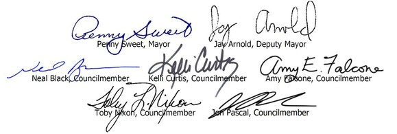 Image of Council and Mayor signatures
