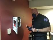 Kirkland Firefighter performs safety inspection
