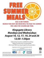 Kingsgate Library free summer meals
