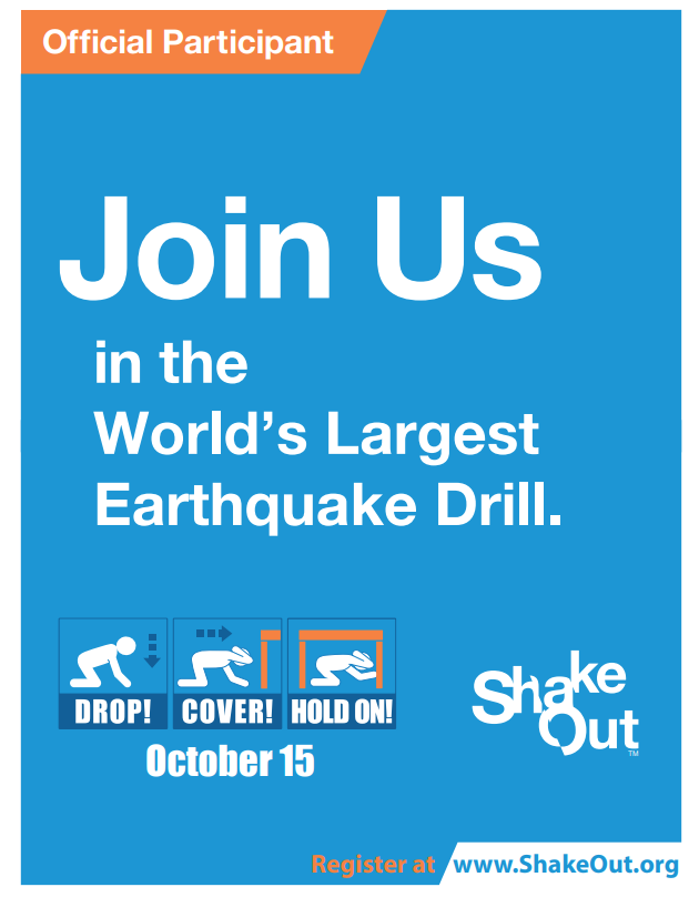 ShakeOut flyer