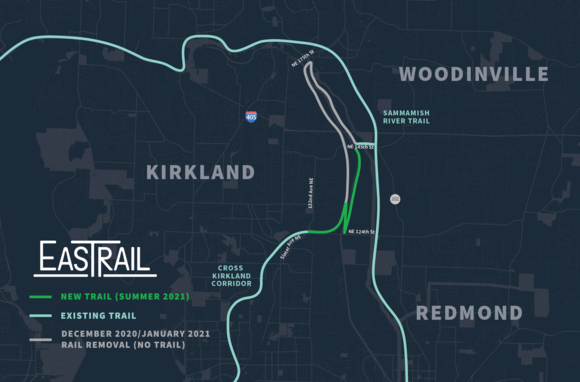 Eastrail map