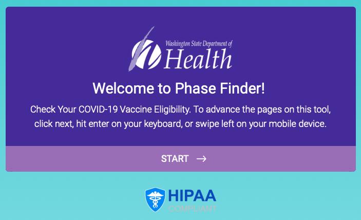 DOH COVID vaccine webpage
